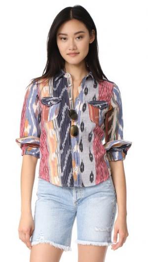 Рубашка Ripple Warm. Цвет: икат мульти
