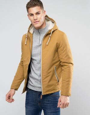 Brave Soul Куртка с капюшоном и завязкой. Цвет: рыжий