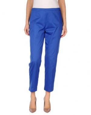 Повседневные брюки CARLA MONTANARINI. Цвет: синий
