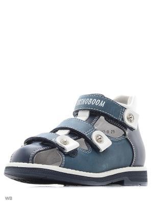 Туфли ортопедические ORTHOBOOM. Цвет: синий, белый