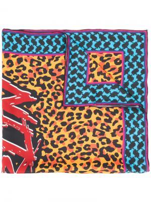 Платок с леопардовым принтом Lala Berlin. Цвет: многоцветный