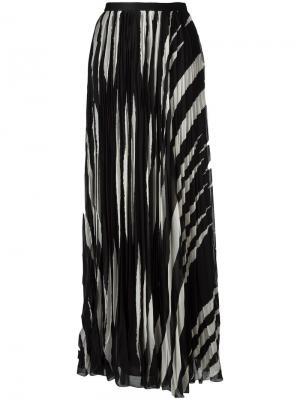 Длинная плиссированная юбка Tory Burch. Цвет: чёрный