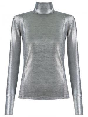 Turtle neck blouse Gloria Coelho. Цвет: металлический