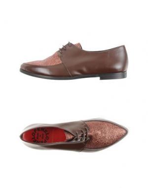 Обувь на шнурках PENELOPE. Цвет: темно-коричневый