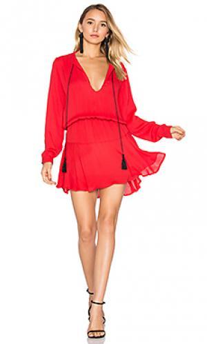 Сплошное мини платье pilar Karina Grimaldi. Цвет: красный