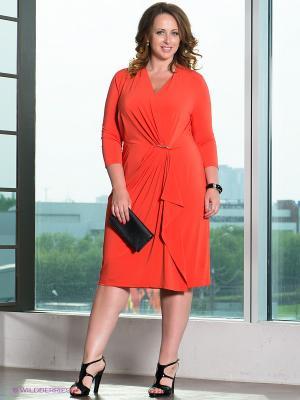 Платье TUZZI NERO. Цвет: оранжевый