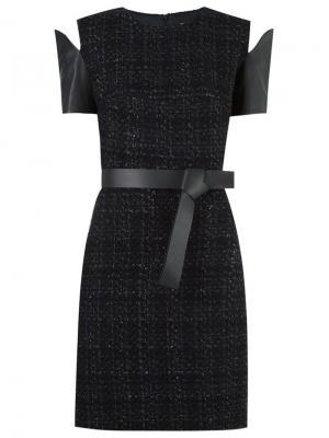 Panelled tweed dress Gloria Coelho. Цвет: чёрный