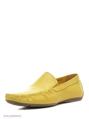 Мокасины Dino Ricci. Цвет: желтый
