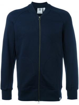 Спортивная куртка XbyO Adidas. Цвет: синий