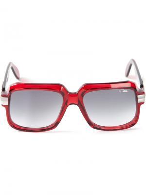 Солнечные очки в квадратной оправе Cazal. Цвет: красный