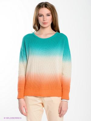 Джемпер Yerse. Цвет: зеленый, молочный, оранжевый