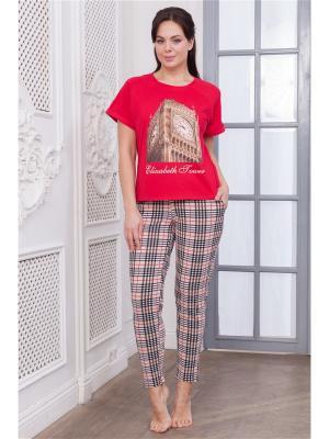 Комплект одежды CLEO. Цвет: бежевый, красный