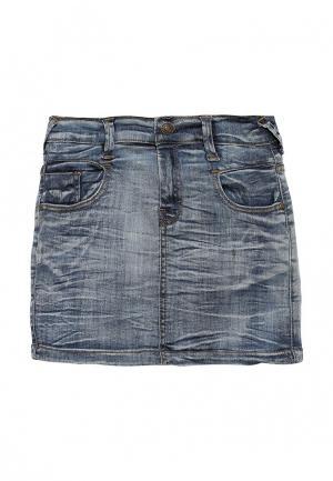 Юбка джинсовая Staccato. Цвет: синий