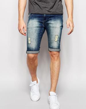 Loyalty & Faith Окрашенные спреем состаренные джинсы. Цвет: синий