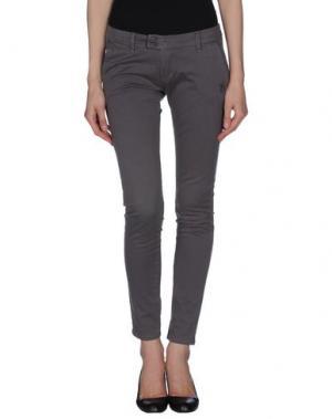 Повседневные брюки DUCK FARM. Цвет: серый