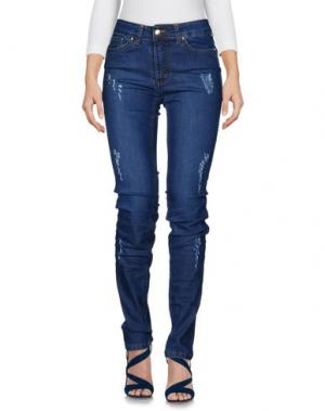 Джинсовые брюки DONATELLA DE PAOLI. Цвет: синий