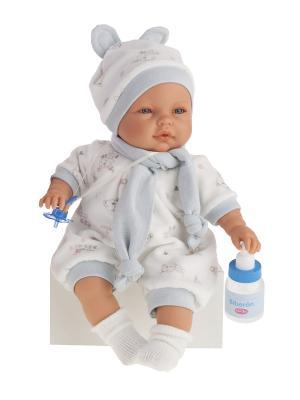 Кукла София с аксессуарами в голубом,37см Antonio Juan. Цвет: светло-голубой