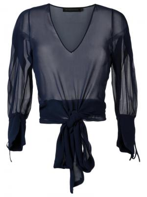 Прозрачная блузка Giuliana Romanno. Цвет: синий