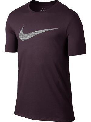 Футболка M NK DRY TEE DF SWOOSH HTR Nike. Цвет: фиолетовый