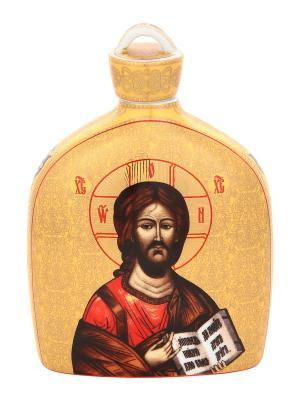 Сосуд для святой воды Иисус Христос Elan Gallery. Цвет: золотистый, коричневый, красный