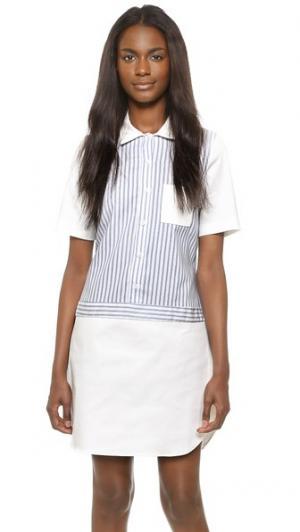 Платье-рубашка Ashley RUKEN. Цвет: полоска «ривьера»/белый