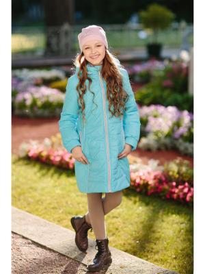 Пальто Полина DUWALI. Цвет: голубой