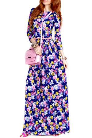 Платье FRANCESCA LUCINI. Цвет: бело-розовый, жасмин