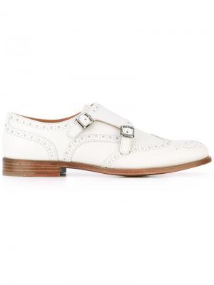 Классические туфли-монки Churchs Church's. Цвет: белый