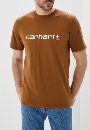 Футболка Carhartt. Цвет: коричневый