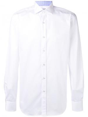 Классическая рубашка Xacus. Цвет: белый
