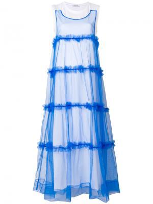 Длинное платье-футболка P.A.R.O.S.H.. Цвет: белый