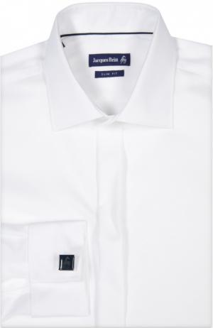 Вечерняя сорочка с запонками Jacques Britt. Цвет: белый
