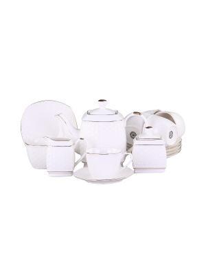 Набор чайный 15 предметов 220 мл. PATRICIA. Цвет: белый