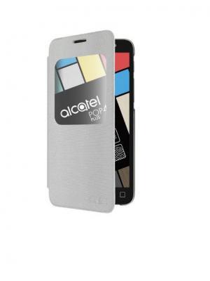 Чехол 5056 FlipCase silver Alcatel. Цвет: серебристый
