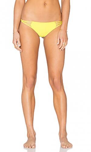 Плавки бикини с вырезами по бокам lanai MIKOH. Цвет: желтый
