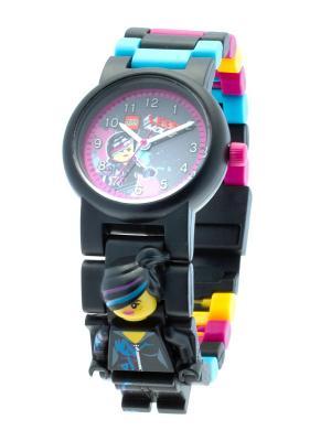 Часы наручные аналоговые LEGO MOVIE с минифигурой Lucy на ремешке Lego.. Цвет: черный, голубой, желтый, сливовый
