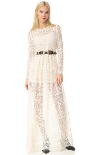 Длинное платье с рукавами Philosophy di Lorenzo Serafini. Цвет: золотой