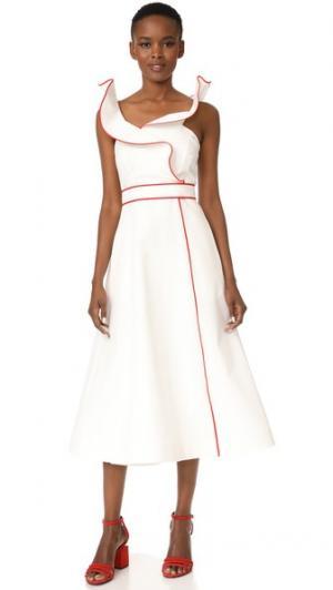 Платье-халат Vika Gazinskaya. Цвет: белый/красный