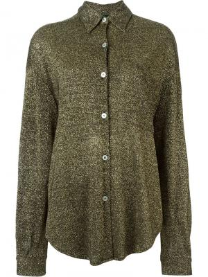 Рубашка с отделкой металлик Jean Paul Gaultier Vintage. Цвет: чёрный