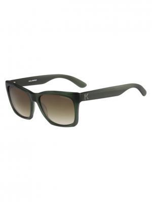 Очки солнцезащитные KL 871S 036 Karl Lagerfeld. Цвет: зеленый