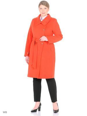 Пальто LILIYA. Цвет: красный