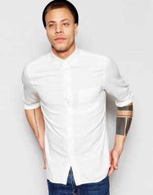 Nudie Jeans Рубашка классического кроя Stanley. Цвет: белый