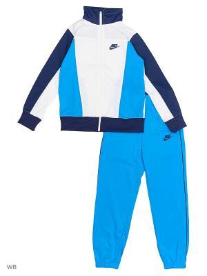 Спортивный костюм B NSW TRK SUIT PAC POLY Nike. Цвет: белый, синий