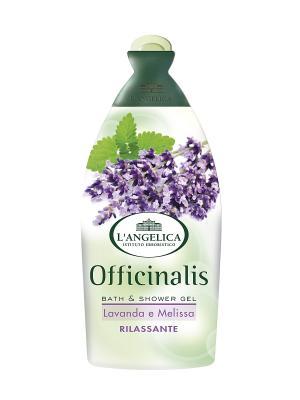Гель для душа и ванны РАССЛАБЛЯЮЩИЙ с экстрактом лаванды мелиссы 500 мл L'Angelica. Цвет: зеленый