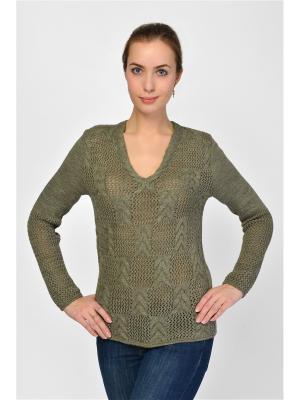 Пуловер Maria Velada. Цвет: хаки