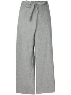 Узкие вельветовые брюки Loro Piana. Цвет: коричневый