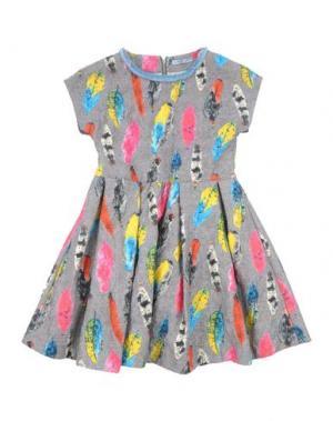 Платье MIMISOL. Цвет: серый