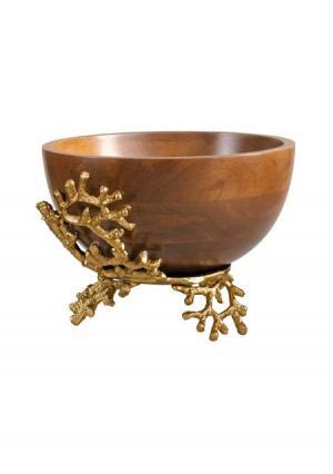 Декоративная чаша Heine Home. Цвет: золотистый/темно-коричневый