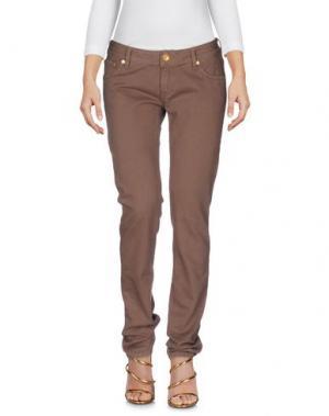 Джинсовые брюки JFOUR. Цвет: коричневый