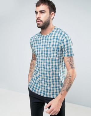YMC Мягкая футболка с волнообразным принтом. Цвет: синий